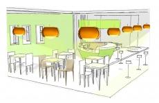 Whimsical, a new frozen yogurt shop concept in California.