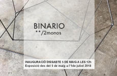 Ehxibition: BINARIO by 2monos. Fundación Coll Bardolet